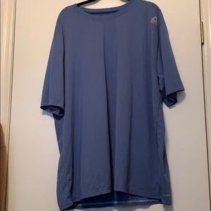 Reebok blue dry wicking shirt